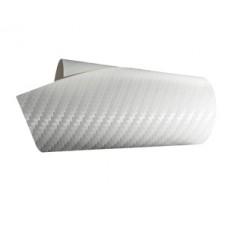 Foliatec Designfolie Carbon - weiss-strukturiert, 152 cm x 100cm