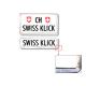 Swissklick - Nummernrahmen Hochformat Chrom glanz