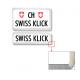 Swissklick - Nummernrahmen Hochformat Chrom matt