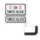 Swissklick - Nummernrahmen Hochformat schwarz